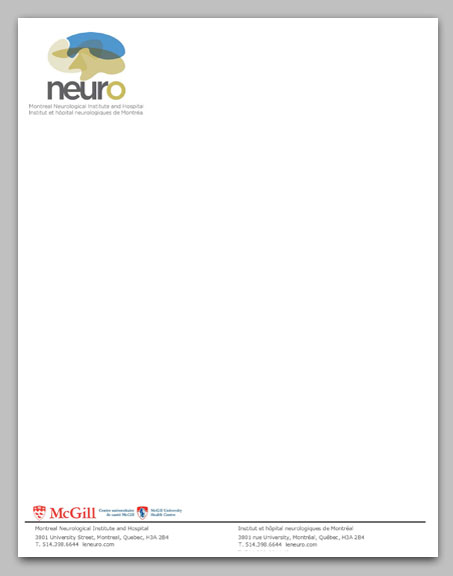 The Neuro Letterhead Example